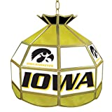 NCAA University of Iowa Tiffany Gameroom Lamp, 16''