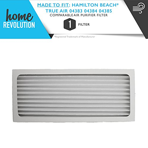 Home Revolution Replacement HEPA Filter, Fits Hamilton Beach True Air Purifier 04383, True Air Glow Allergen Reducer 04385, TrueAir Compact Pet Air Purifier 04384 and Part 990051000 (Allergen Reducer Air True)