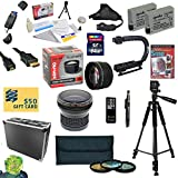 47th Street Photo All Sport Accessory Kit For the Canon Rebel T2i, T3i, T4i, T5i, 650D, 700D, Kiss X5 Kiss X4, KissX6i, Kiss X7i, EOS 550D, 600D DSLR Digital Camera - Kit Includes: 64GB High Speed SDXC Card + Card Reader + 2 Extended Life Batteries + Dual