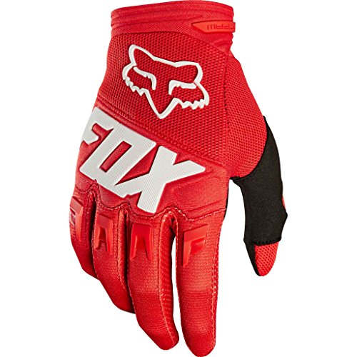 Fox Racing Dirtpaw Race Big Boys' Off-Road Motorcycle Gloves - Red / Small (Fox Gear Kids)