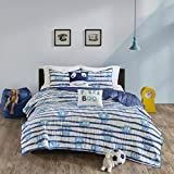 Urban Habitat Kids Poe Cotton Printed Coverlet Set Blue Twin/Twin XL