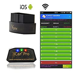 LZLRUN Vgate iCar Pro WiFi OBD2 Scanner for Android/iOS Car Diagnostic Tool ELM327 V2.1 iCar Pro WiFi Scanner (WiFi for iPhone ipad and Android)