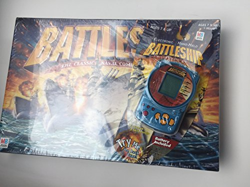 Hasbro, Milton Bradley Classic battleship boardgame with a bonus handheld electronic game by Hasbro