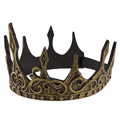 YOOJIA Unisex Medieval Imperial Corona de Rey PU Foam ...