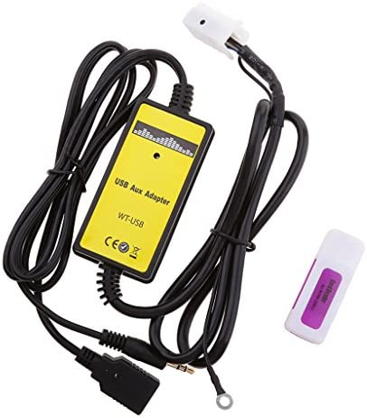 車 インターフェイス USB 6+6ピン MP3 AUXインオーディオ 入力アダプタ アウディ VW スコダ シートのため 3.5ミリ