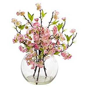 Nearly Natural 4572 Cherry Blossom in Large Vase 71