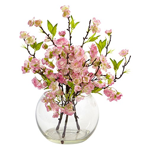 Nearly Natural 4572 Cherry Blossom in Large Vase (Cherry Blossom Large Vase)