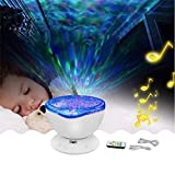 Clearance Sale!DEESEE(TM)Star Projector Mood Lamp Ocean Wave Night Light Color Changing LED (white)