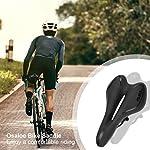 Osaloe-Sella-Bici-Sella-Bici-con-Protezione-Antipioggia-Confortevole-Uomo-Donna-Sella-Bici-Gel-in-Silicone-per-Biciclette-MTB-City-Bike-Bici-da-Corsa-Nero