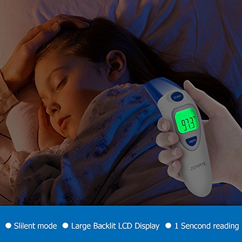Digital Forehead Thermometer, Zonpor Medical Infrared Baby Thermometer for Fever Kids/Adult with Ear Function Body Basal Thermometers Accurate Reading Medically Proven, FDA and CE Approved by zonpor (Image #7)
