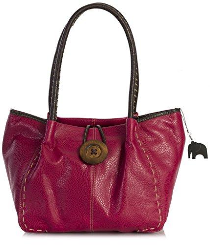 Big BHSL para mujer Bolso sintético Shop One de hombro Red Handbag al TrTnvq