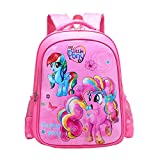 MY L. Pony Backpacks for Girls Kids Cute Bookbag Pink School Bags