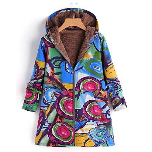 Bleu Pour Femmes À Capuche Manteau En Manteaux Grande Bleu D'hiver Velours Oudan Taille Glissière coloré De 4xl qwaHR