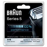 Braun Series 5 Combi 51s Foil And Cutter Replacement (Formerly 8000 360 Complete Or Activator), Super Size Value Package 2- Replacements