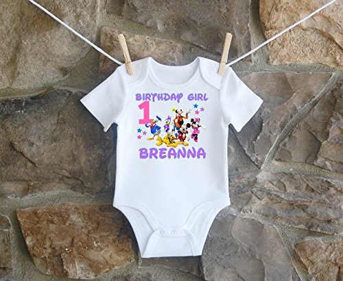 Mickey Mouse Clubhouse Birthday Shirt, Mickey Mouse Clubhouse Birthday Shirt For Girls, Personalized Girls Mickey Mouse Clubhouse Birthday Shirt, Customized Mickey Mouse Clubhouse Birthday Shirt