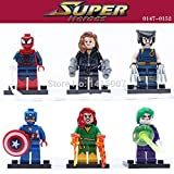 30 Piece size 1.8 inches 4.5 cm Marvel The Avengers X-Men Collection Figures Building Blocks No orignial box new in sealed bag