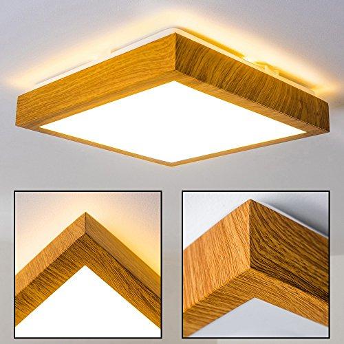 LED Deckenlampe Sora Wood Eckig 900 Lumen 12 Watt 3000 Kelvin Warmweiss Mit  Holzdekor In Holzoptik Für Badezimmer Geeignet: Amazon.de: Beleuchtung