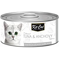 Kit Cat Deboned Tuna & Anchovy Toppers Canned Cat Food 80g