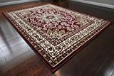Generations New Oriental Traditional Isfahan Persian Area Rug, 7'10 x 10'2, Burgundy/Red