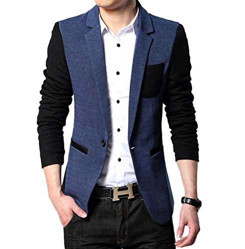 Rekade Long Sleeve Tailored Jacket [ For Men ] Outer Outwears Slim Fit Blazer (Navy-2, US M/Asian - Trends Latest Style The