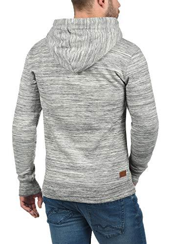 Forro Tacto Capucha Para Grey Al Polar Suéter Melange 8242 Hoodie Suave Kevin Sudadera Con Hombre solid Light C8tB1q8