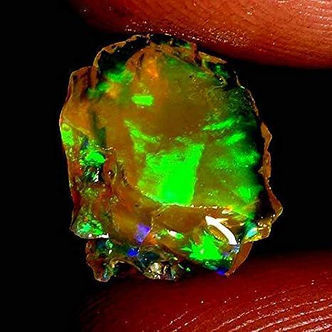 A314 13 MM Ethiopian Opal Stone \\ Opal Gemstone \\ Opal Loose \\ Electric Fire Opal \\ Round Stone \\ 5.30 Carat Natural Opal Cabochon