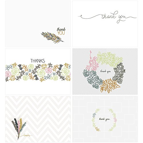 60 Postcards - Embellished Thank You - 6 Different Images