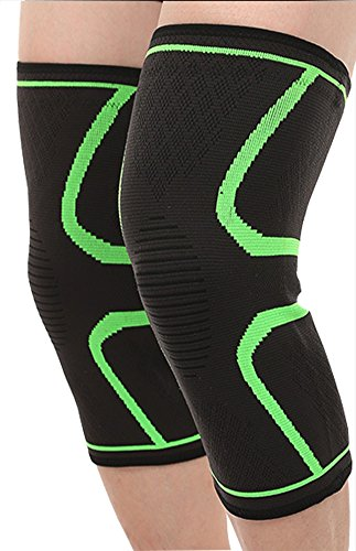 LBang Knee Brace Support Compression Sleeve - 1Piece Knee Protector for Meniscus Tear, Arthritis,Joint Pain Relief, Injury Recovery, Running - Sports for Men & Women by LBang