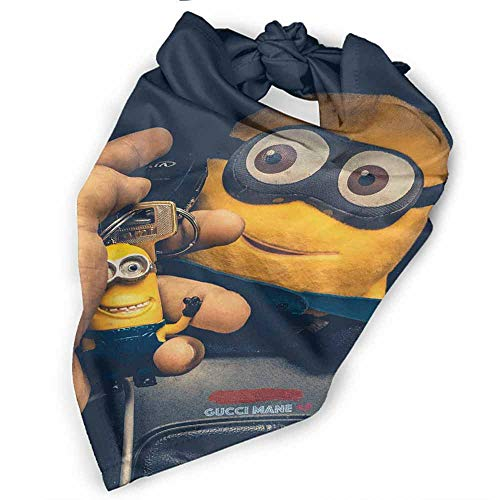 Dog Bandanas,Animations Car Key Cartoon Despicable Me Disney Gucci Mane Minions Banana Life Scarfs Accessories for Small to Large Dogs Cats -