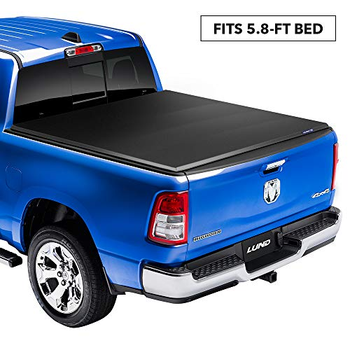 LUND 958192 Genesis Elite Tri-Fold Truck Bed Tonneau Cover for 2014-2018 Silverado & Sierra 1500; 2015-2018 Silverado & Sierra 2500 HD, 3500 HD | Fits 5.5' Bed