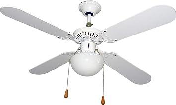 VIVAHOGAR - Ventilador techo c/luz 4 aspas, 50w 105cm 3 ...