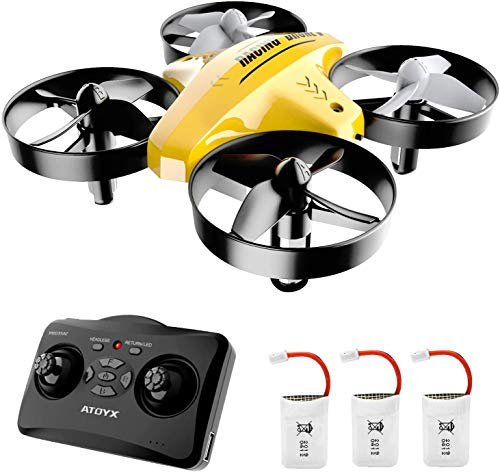 ATOYX Drone for Kids, Drone for Children , 3D Flips, 3 Speeds, Drone Kids with 3 Batteries , Altitude Hold, Headless…