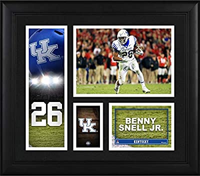 """Benny Snell Jr. Kentucky Wildcats Framed 15"""" x 17"""" Player Collage - College Player Plaques and Collages"""