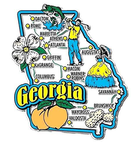 Georgia Jumbo State Map Fridge ()