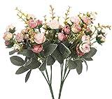 Duovlo 7 Branch 21 Heads Artificial Flowers Bouquet