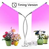 Plant Grow Light, MOCRUX[2018 Upgraded]25W 56 LED Plant Lamp,360 Degree Adjustable Gooseneck 8/12/16H Timer for Indoor Plants,Full Spectrum 3 Lighting Modes 7 Dimmable Levels,Timing Function