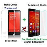 """Shop Buzz ombo of Transparent Back Cover + Tempered Glass - Xiaomi Redmi Note Prime 5.5"""" - By Shop Buzz (Transparent Silicon Back and Tempered Glass Screen Protector For Mi Note Prime)"""