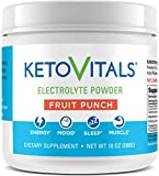 Keto Vitals Electrolyte Powder | Keto Friendly Electrolytes with Potassium, Magnesium, Sodium & Calcium | Keto Electrolytes Supplement Energy Drink Mix | Zero Calorie | Zero Carb | Sugar Free