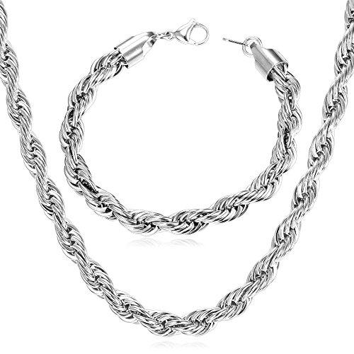 U7 Jewelry Stainless Necklace Bracelet