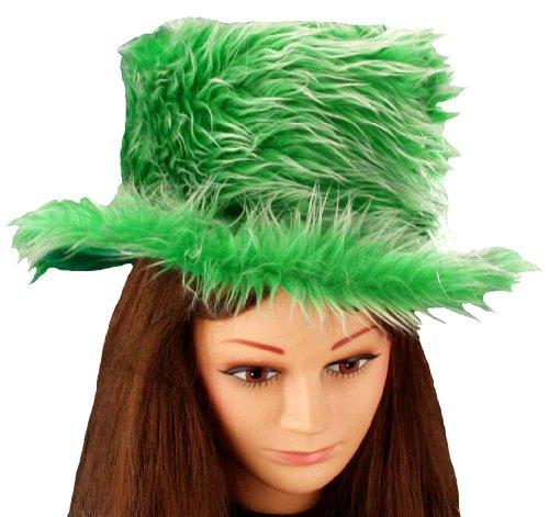 [Forum Novelties St. Patrick's Day Costume Top Hat, Plush Green, One Size] (St Patrick The Saint Costume)