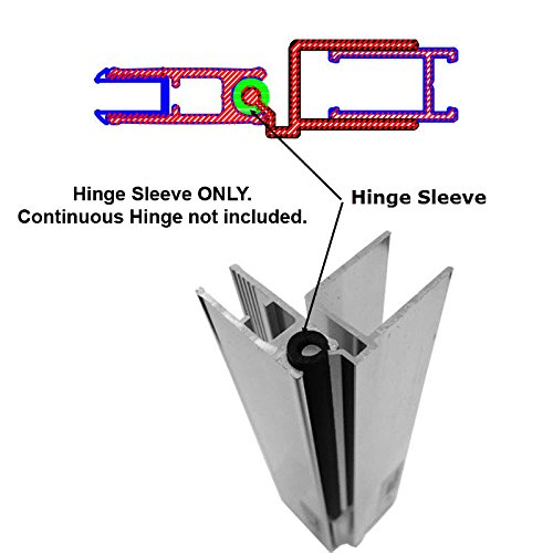 Hinge Sleeve for Shower Doors with Continuous Hinge - 66