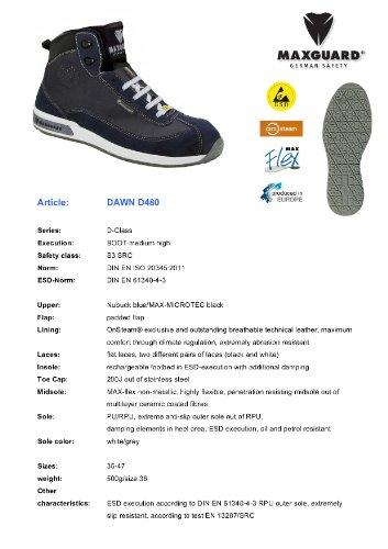 Maxguard DAWN D480, Unisex-Erwachsene Sicherheitsschuhe, Blau (Blau), 43 EU
