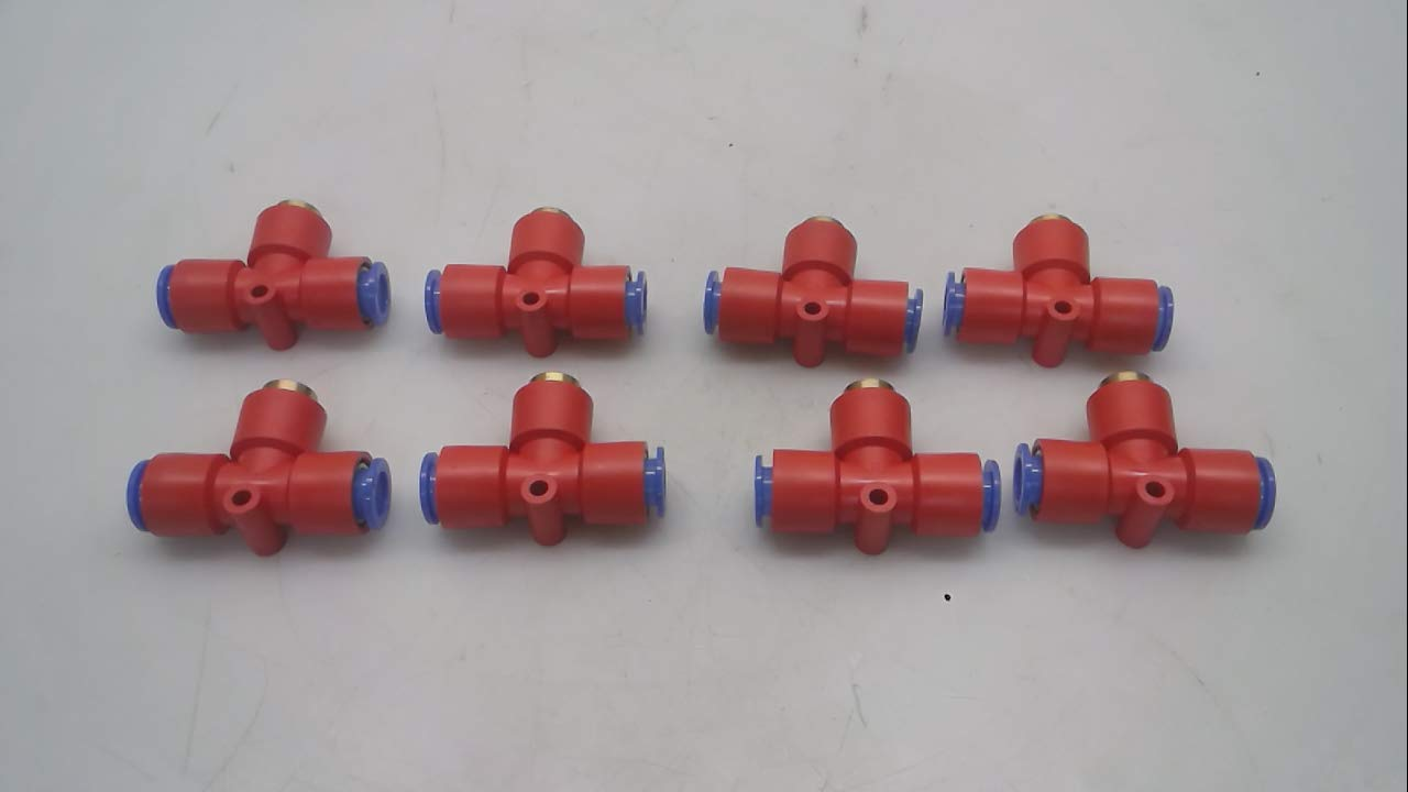 Pack of 8 Smc Keb10 Red Keb10 Reief 1-Touch Fitting Pack of 8 Valve