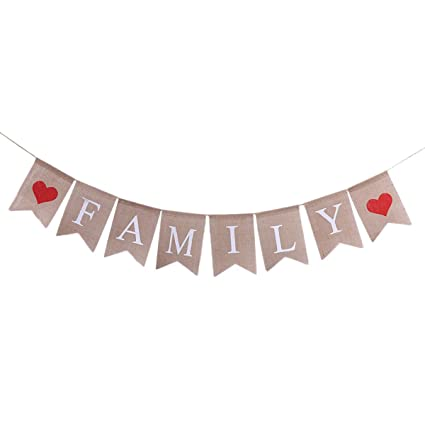 Amazon Com Tinksky Family Bunting Banner Family Photo Prop Family