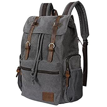 Amazon.com | Lifewit 17 inch Canvas Backpack Vintage