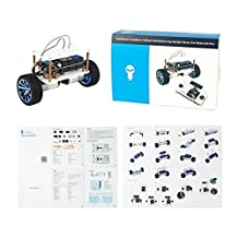 SainSmart InstaBots SRAT, 2-Wheel Self-Balancing Upright Rover Car Robot Kit V3, Compatible with Arduino, Joystick and Mega2560 Included to Remote Control the Robot, High-precision encoder, A Customizable Robot with PDF Easy-to-follow Instructions
