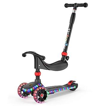 Patinetes y equipación Scooter para niños Asiento de bebé de 3~12 años Bicicleta de