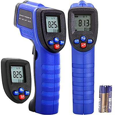 Koeson Non-Contact Infrared Thermometer, Digital Laser Infrared Temperature Gun for Industrial BBQ Kitchen Cooking Automotive -58°F~ 1022°F (-50°C ~ 550°C) with HD Backlit LCD Display Accuracy Reading