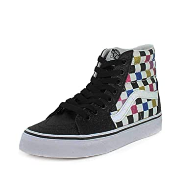 Vans Sk8-Hi (Glitter Checkerboard) | Fashion Sneakers