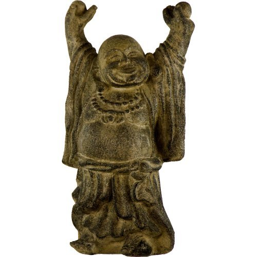 The New Age Source Volcanic Stone Statue Standing Happy Buddha Each